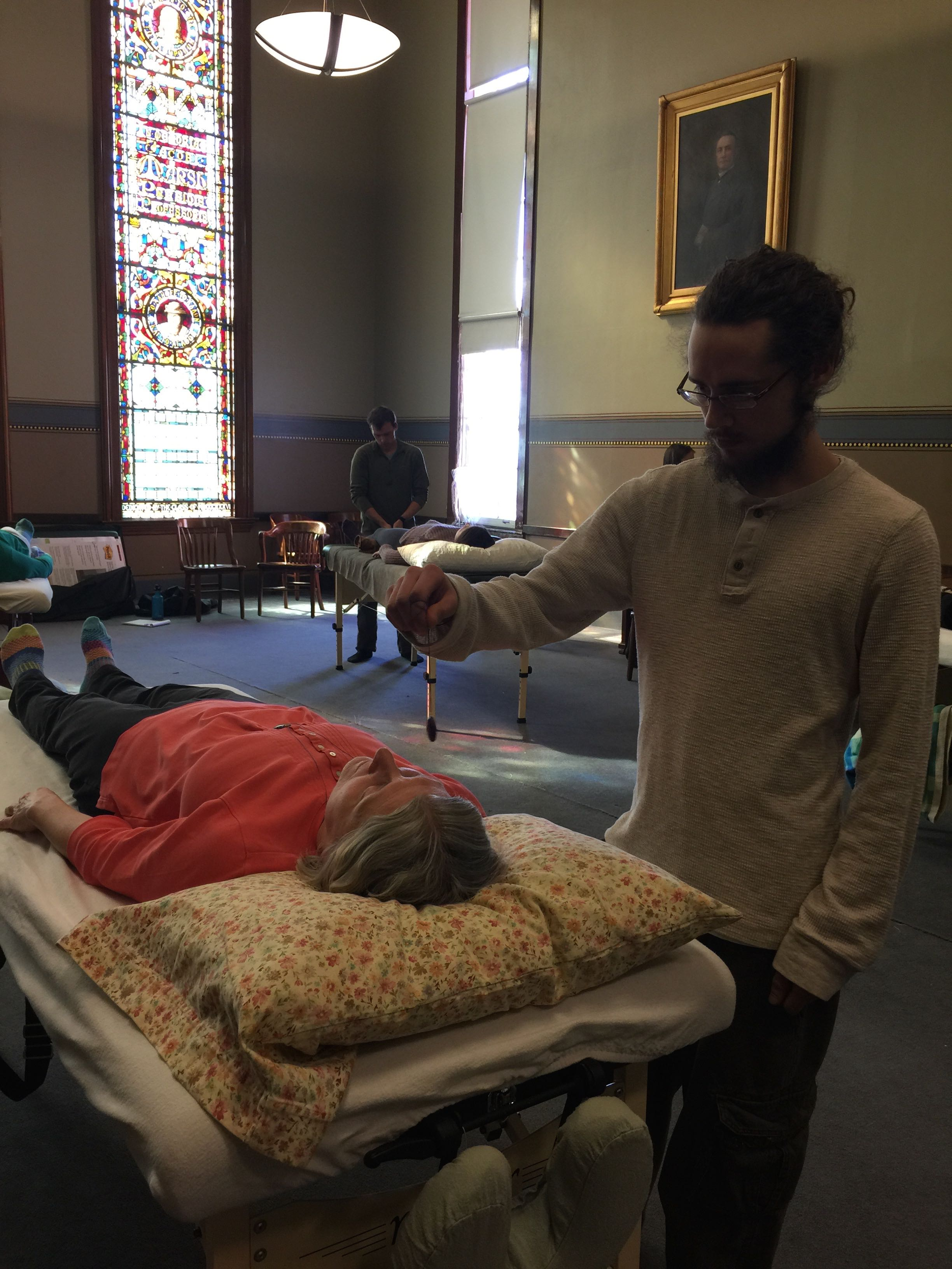 Healing Touch provider at his holistic class