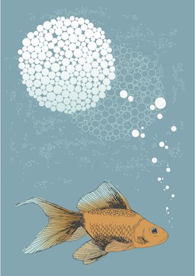 Fish with text bubble